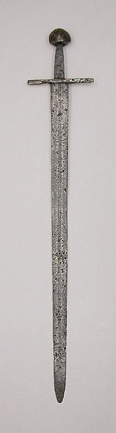 Western European sword. Early 12th-13 century. On view at the Metropolitan Museum, NY.