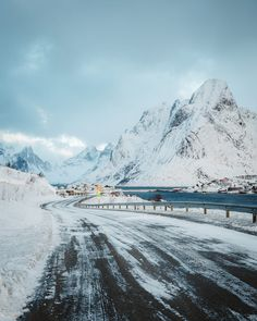 Winter road (Lofoten, Norway) by Bryan Daugherty cr.c.