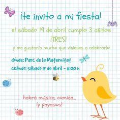 ideas invitación de fiesta infantil con pickmonkey Blog, Deco, Fiesta Invitations, Clowns, Pies, Pastries, Blogging, Decor, Deko