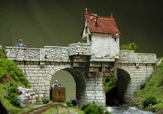 5 Model Railroad Accessories You Must Have To Add Realism To Your Layout Fantasy Model, Fantasy City, Medieval Houses, Medieval Town, Escala Ho, Landscape Elements, Wargaming Terrain, Model Train Layouts, Stone Houses