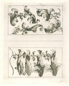 How to Draw an Acanthus Leaf, 1713 (published), Roberday, E. (artist), Etching on paper