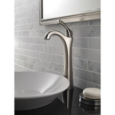 Delta Addison Single Hole Single-Handle Vessel Bathroom Faucet in Stainless