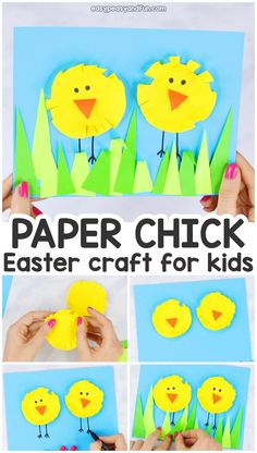 Paper Circle Easter Chick Craft for Kids - Paper Collage Art Idea for Preschool . - - Paper Circle Easter Chick Craft for Kids – Paper Collage Art Idea for Preschool and Kindergarten Easter Art, Bunny Crafts, Easter Crafts For Kids, Creative Crafts, Easy Crafts, Paper Collage Art, Christmas Tree Crafts, Holiday Crafts, Paper Roll Crafts