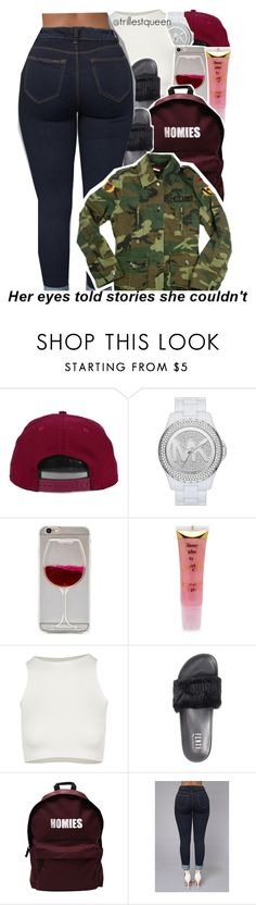 """""""08-25-2016."""" by trillestqueen ❤ liked on Polyvore featuring H&M, MICHAEL Michael Kors, Barry M, Free People, Puma and ASAP"""