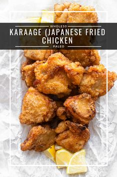 Karaage (Japanese Fried Chicken) is a chicken dish that is perfectly fried to crispy deliciousness. This version is paleo, keto, and friendly. Paleo Recipes Easy, Whole 30 Recipes, Great Recipes, Paleo Japanese Recipes, Yummy Recipes, Recipies, Dinner Recipes, Favorite Recipes, Japanese Fried Chicken