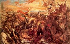The Battle of Varna took place on November 1444 near Varna in eastern Bulgaria. In this battle the Ottoman Empire under Sultan Murad II defeated the Hungarian and Polish armies under Władysław III of Poland (also King of Hungary) and John Hunyadi. Romanticism Artists, Poland History, Christian Images, Holy Roman Empire, Islamic World, Art Database, Rare Pictures, Great Artists, Fine Art