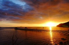 Sunset at the jetty, Labuan Bajo, Flores, Indonesia
