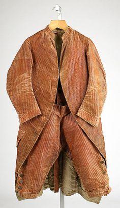 Ensemble  Date:     1770s Culture:     American or European Medium:     silk Dimensions:     Length at CB (a): 41 in. (104.1 cm) Length (b):... Accession Number: 1978.297.2a, b
