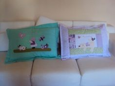Capas de travesseiros personalizadas!! www.saldaterrapatchwork.blogspot.com face: Renata Deichsel