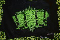 "Hells Blankets  Tiki Terror ""Jungle Fever"" Pillowcase Set $29.95"