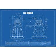 Doctor Who - Dalek Blue Prints TV Poster