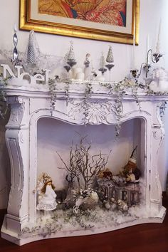 Fantastic Pics Faux Fireplace shabby chic Concepts If you r Fantastic Pics Faux Fireplace shabby chic Concepts If you r Sabine Gohr feentarnung Inspiration und Gem tlichkeit Fantastic Pics Faux Fireplace shabby nbsp hellip Shabby Chic Vanity, Shabby Chic 2019, Shabby Chic Style, Shabby Chic Decor, Vintage Home Decor, Paint Fireplace, Fake Fireplace, Fireplace Design, Fireplace Ideas