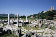 Les ruines d'Hippo Regius (Hipone) Bone Annaba, en Algérie Ifriqiya. Elle fut conquise par l'Empire romain d'Orient en 534 après JC et a été maintenu sous la domination byzantine jusqu'en 698 après JC, quand elle tomba aux mains des musulmans ; les Arabes Omeyyades ont reconstruit la ville au VIIIe siècle.