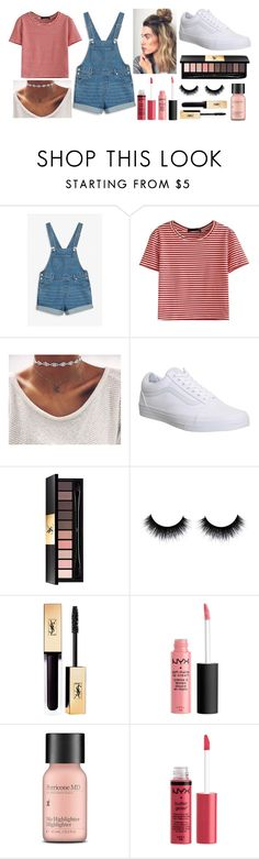"""""""Stripes and Chokers"""" by ac-4am on Polyvore featuring Monki, WithChic, Vans, Yves Saint Laurent and Perricone MD"""