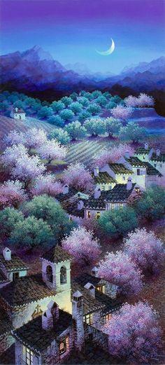Luis Romero 1948   Spanish Spray Paint Landscape painter   Tutt'Art@   Pittura * Scultura * Poesia * Musica  