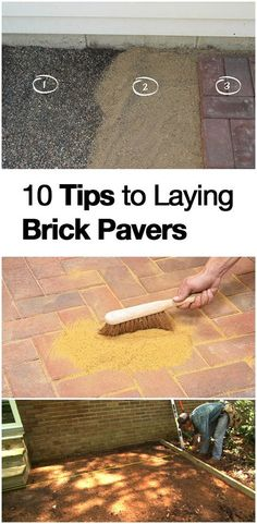 Learn how to lay brick pavers here!