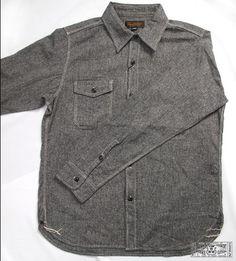 c1d4917c668ab Triple Works Linen Herringbone Workshirt Japanese Denim
