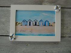 Cadre : peinture de cabines de plage : Décorations murales par lalouchic