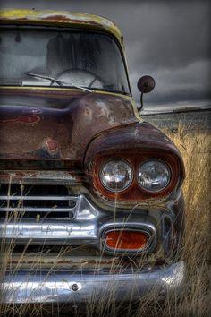 Vintage Trucks Chevy Photograph - Sad Suburban by Michael Morse - Vintage Chevy Trucks, Old Pickup Trucks, Classic Chevy Trucks, Vintage Cars, Antique Cars, Classic Cars, 4x4 Trucks, Chevy Classic, Old Trucks Chevy
