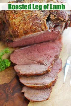 An easy recipe for oven roasted boneless leg of lamb. Rub with olive oil and spices, then roast in the oven until medium rare. Tender, juicy and flavorful!