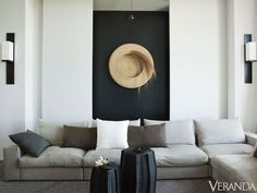 living room details: In a well-edited space where every object counts, rigorous choices illustrate that even simple schemes can attain the level of art—and still invite you to put up your feet. Cool Rooms, Great Rooms, Color Inspiration, Interior Inspiration, Bali, Living Comedor, Piece A Vivre, Minimalist Home, Home And Living