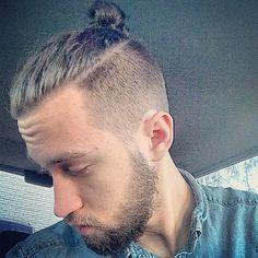 Boys Haircuts Long Hair, Older Mens Hairstyles, Man Bun Hairstyles, Haircuts For Men, Hair And Beard Styles, Curly Hair Styles, Undercut Long Hair, Beard Haircut, Really Short Hair