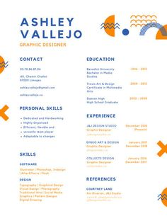 Use this customizable Blue and Orange Abstract Shapes Colorful Resume template and find more professional designs from Canva. Graphic Art, Graphic Design, Abstract Shapes, Resume Templates, Sample Resume, Presentation, Lettering, Canvas, Create