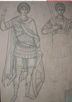 Byzantine Art, Byzantine Icons, Medieval Art, Renaissance Art, Religious Icons, Religious Art, Christian Drawings, Writing Icon, Archangel Prayers