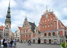 Lettország - Riga  Feketefejűek háza és a városháza