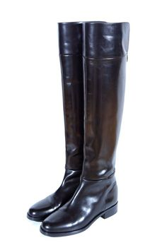 Flat OTK Overknee Boots with Back-Zip, 1inch Heel Height and 20inch bootleg lenght