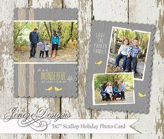 Rustic Woodsy Holiday Card by Jeneze on Etsy, $15.00, #chalkboardchristmascard, #holidaycard