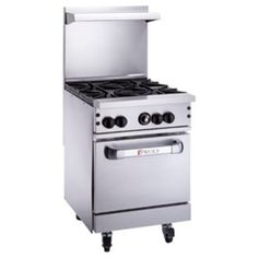 "Wolf C24S-4B 24"" Challenger XL Gas Restaurant Range With 1 Standard Oven And 4 Burners, 143,000 BTU"