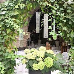 """""""Das Leben ist schön"""" ❤️ Gefunden im #StPeterStiftskeller  #flowers #green #restaurant #beautiful #decoration #outdoor #hydrangea #salzburg #austria"""