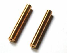 Tubes métalisés dorés 35 mm Lot de 10 pces