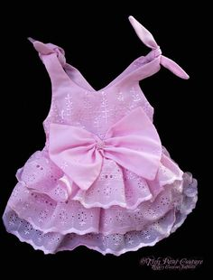 Pretty in Pink Eyelet Dog Sun Dress by tinypawscouture on Etsy