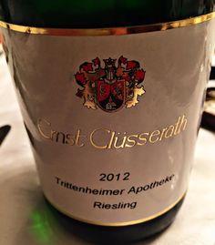 El Alma del Vino.: Ernst Clüsserath Trittenheimer Apotheke Riesling 2012.