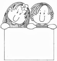 CARTELES PARA MENSAJES - Marilú San Juan Ibarra - Álbumes web de Picasa Colouring Pages, Coloring Sheets, Adult Coloring, Borders For Paper, Borders And Frames, School Clipart, Page Borders, Writing Paper, Digi Stamps