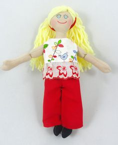 Blonde Doll  Toy Dress Up Doll For Kids by JoellesDolls on Etsy