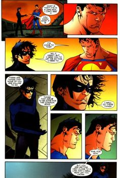 Nightwing states down Superman <<it truly runs in the family lol