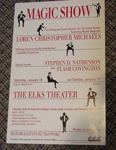 MAGIC POSTER - MAGIC SHOW LOREN CHRISTOPHER MICHAELS | eBay