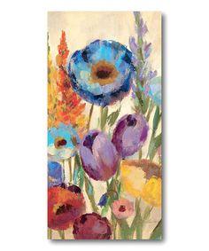 Loving this Wild Flowers I Canvas Wall Art on #zulily! #zulilyfinds