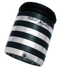 Spart bis zu 50% Wasser und Energie am Wasserhahn: AquaClic INOX Croisette aus Edelstahl. Gesehen für € 21,95 bei kloundco.de.