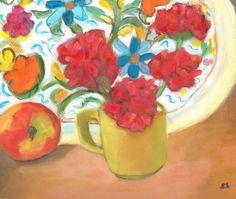 still life apples flower painting fruit still life oil on