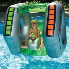starfighter inflatable pool toy!