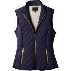 LE3NO Womens Lightweight Quilted Puffer Jacket Vest with Pockets ($29) ❤ liked on Polyvore featuring outerwear, vests, vest, puffy jacket, vest waistcoat, puffer jacket, lightweight puffer jacket and blue vest