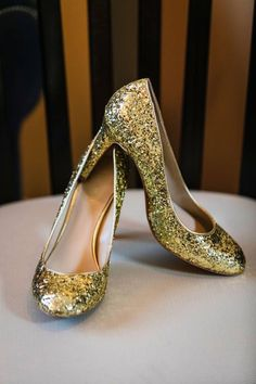 1ff6edba1496b0 Sparkling Gold Wedding Shoes ~ Calgary Bride Gold Wedding Shoes