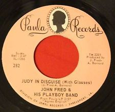 "JOHN FRED & THE PLAYBOYS ""Judy in Disguise"" 1968 High Grade ROCKER 45 on Paula"