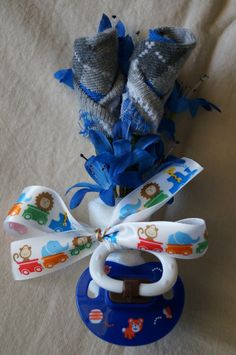 Baby Boy Blue Expecting Mommy Baby Shower Corsage by JeannaSadorra, $12.00