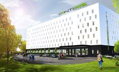 Hotele modułowe - CONTiBOX. Indywidualne projekty Multi Story Building, Cinema, Movies, Movie Theater