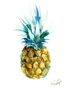 Pineapple Art Print by Suren Nersisyan at Art.com